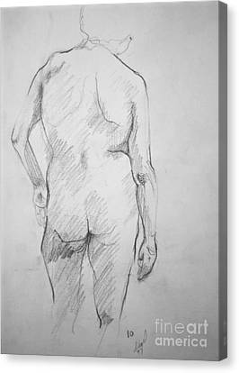 Canvas Print featuring the drawing Figure Study by Rory Sagner