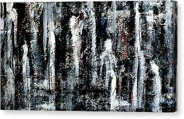 Figures In The Forest Canvas Print by Chad Rice