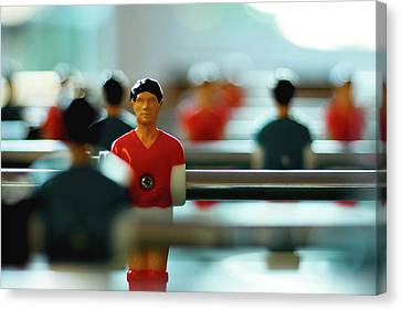 Figurine Of Football Player Canvas Print by D.Reichardt