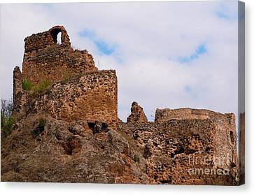 Canvas Print featuring the photograph Filakovo Hrad - Castle by Les Palenik