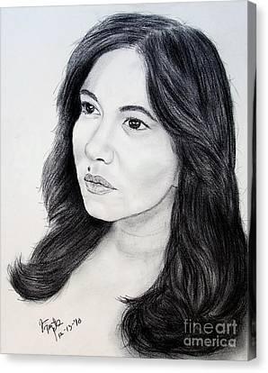Filipina Beauty And Actress Lorna Tolentino Canvas Print by Jim Fitzpatrick