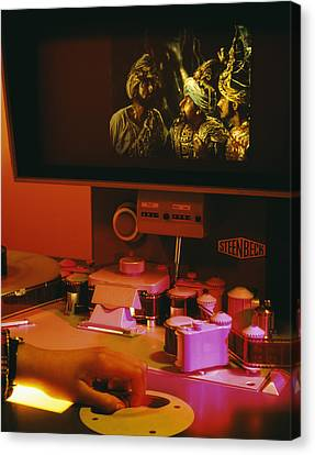Film Editing Canvas Print by Carlos Dominguez