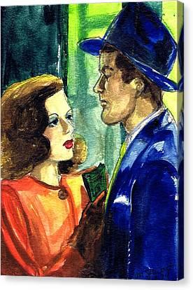 Film Noir Canvas Print by Mel Thompson