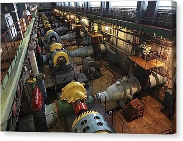 Filtration Pumping House Canvas Print by Ria Novosti