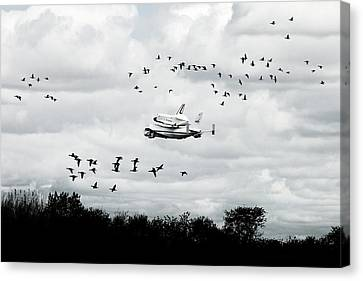 Final Flight Of The Enterprise Canvas Print by Tolga Cetin