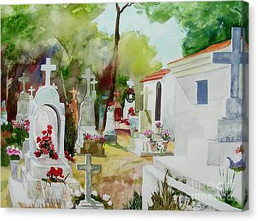 Canvas Print featuring the painting Final Resting Place by Tom Riggs