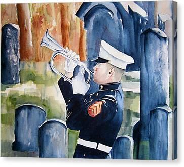 Final Salute Canvas Print by Brian Degnon