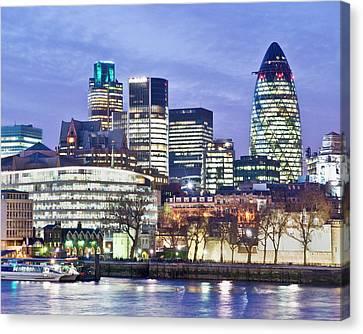 Financial City Skyline, London Canvas Print by John Harper
