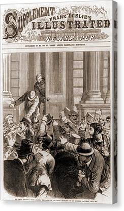 Financial Panic Of 1873.  Closing Canvas Print by Everett