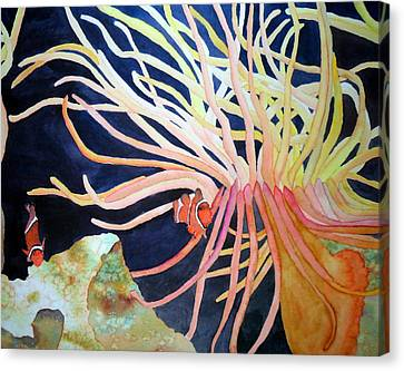 Canvas Print featuring the painting Finding Nemo by Laurel Best