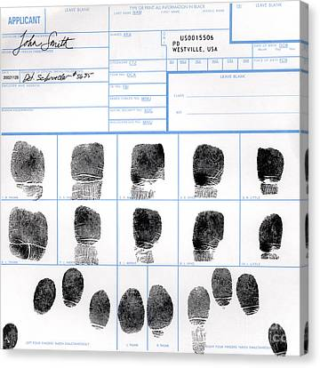 Fingerprint Identification Application Canvas Print by Science Source