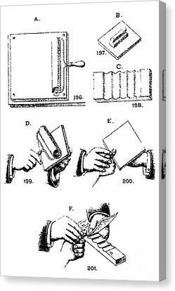 Fingerprinting Instructions, Circa 1900 Canvas Print by Science Source