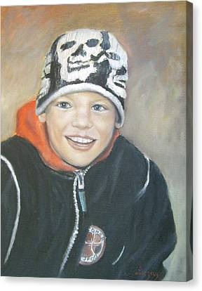 Finnish Boy Commission Canvas Print by Katalin Luczay
