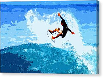 Fins Free Canvas Print by Paul Topp