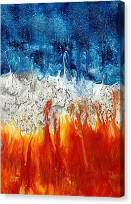 Fire And Ice Canvas Print by Paul Tokarski