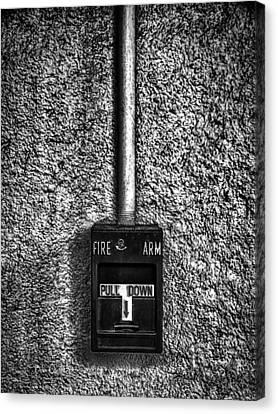Foundation Canvas Print - Fire Arm Pull Down by Bob Orsillo