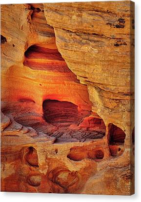 Fire Cave Canvas Print