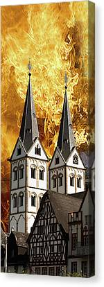Fire Canvas Print by Cecil Fuselier