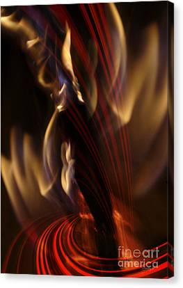 Canvas Print featuring the digital art Fire Dance by Johnny Hildingsson