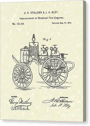 Fire Engine 1862 Patent Art Canvas Print