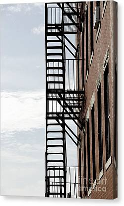 Fire Escape In Boston Canvas Print by Elena Elisseeva