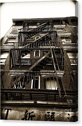 Fire Escape Canvas Print by Thanh Tran