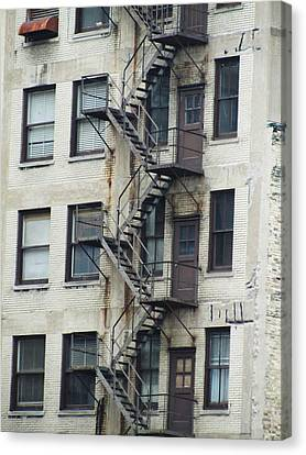 Fire Escape Canvas Print by Todd Sherlock