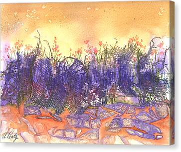 Fire Flowers Canvas Print