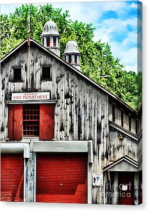 Fire House Canvas Print by HD Connelly