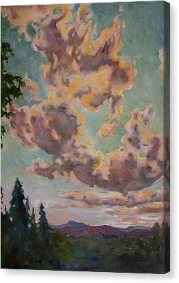 Fire In The Sky Canvas Print by Andrew Danielsen