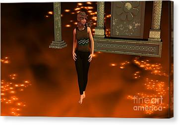 Fire Lady Canvas Print by Stanley Morganstein