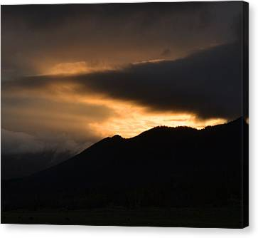 Fire On The Mountain Canvas Print by Kevin Bone
