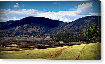 Fire On The Valle Canvas Print by Aaron Burrows