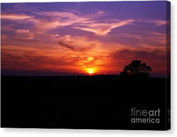 Canvas Print featuring the photograph Fire Through The Storm by Julie Clements
