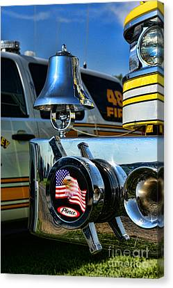 Fire Truck Bell Canvas Print by Paul Ward