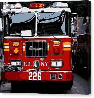 Fire Truck Color 16 Canvas Print by Scott Kelley