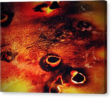 Fire Wall Canvas Print by Jerry Cordeiro