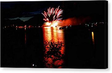 Fire Water Canvas Print by Don Mann
