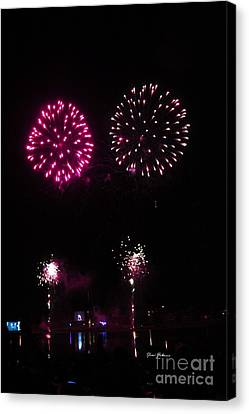 Fire Works Canvas Print by Yumi Johnson