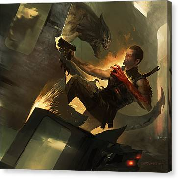 Science Fiction Canvas Print - Fireborn by Sedone Thongvilay