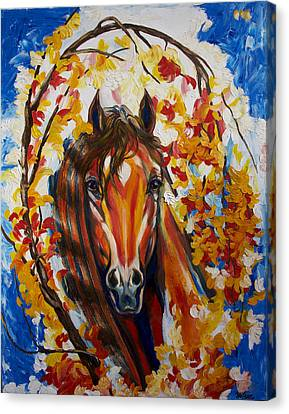 Firefall Horse Canvas Print