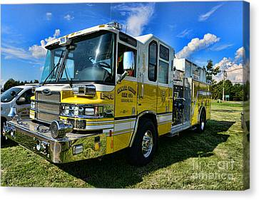 Fireman - Amwell Valley Fire Co. Canvas Print by Paul Ward