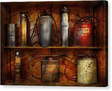 Fireman - Fire Control Canvas Print by Mike Savad