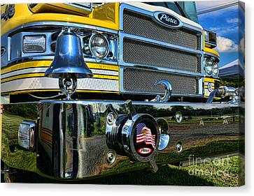 Fireman - Pierce Fire Truck Canvas Print by Paul Ward