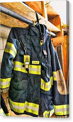 Fireman - Saftey Jacket Canvas Print by Paul Ward