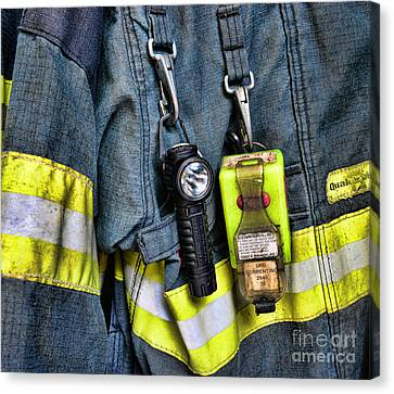 Fireman - The Fireman's Coat Canvas Print by Paul Ward