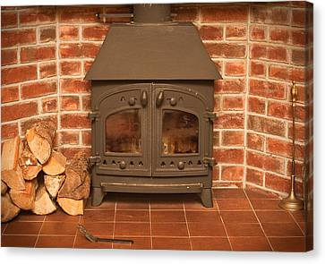 Fireplace Canvas Print by Tom Gowanlock