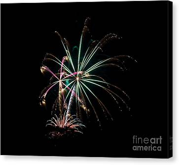 Canvas Print featuring the photograph Fireworks 11 by Mark Dodd