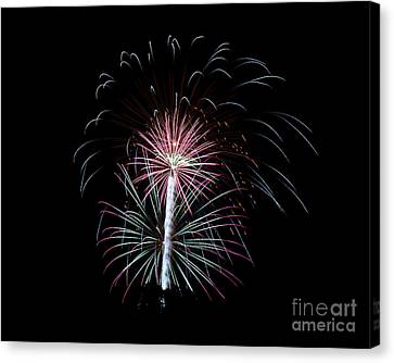 Canvas Print featuring the photograph Fireworks 13 by Mark Dodd