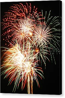 Fireworks 1569 Canvas Print by Michael Peychich